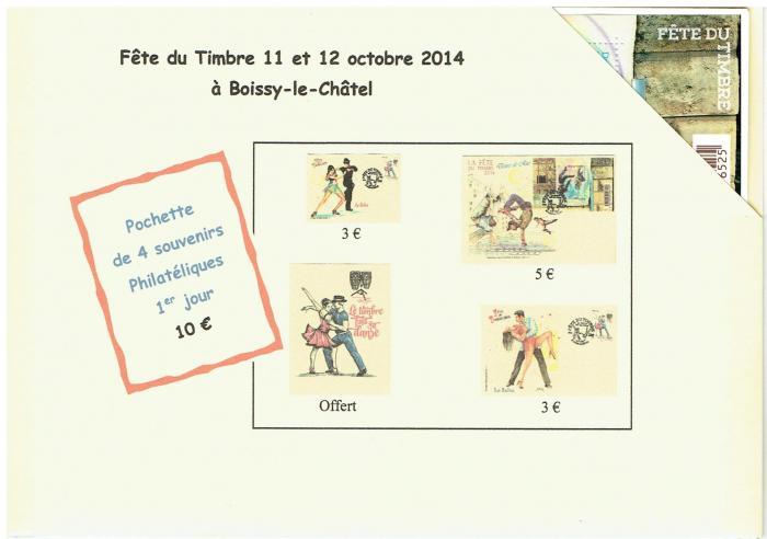 Pochette souvenirs Fête du Timbre (la danse)